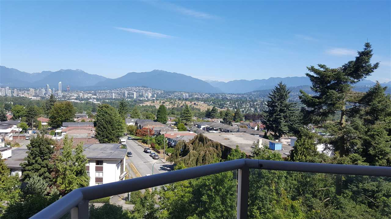 The Madison. Highly sought after location and NW corner unit with sweeping view of N. shore, city and mountain scrapes. 2 bedrooms and 2 full baths, marble kitchen countertop, good size balcony, two (2) parkings side-by-side and one storage locker. Close to all amenities. Short walks to Metrotown, shops, restaurants and bus and skytrain.                    OPEN HOUSE  OCT. 14  SAT. 2-4 PM.