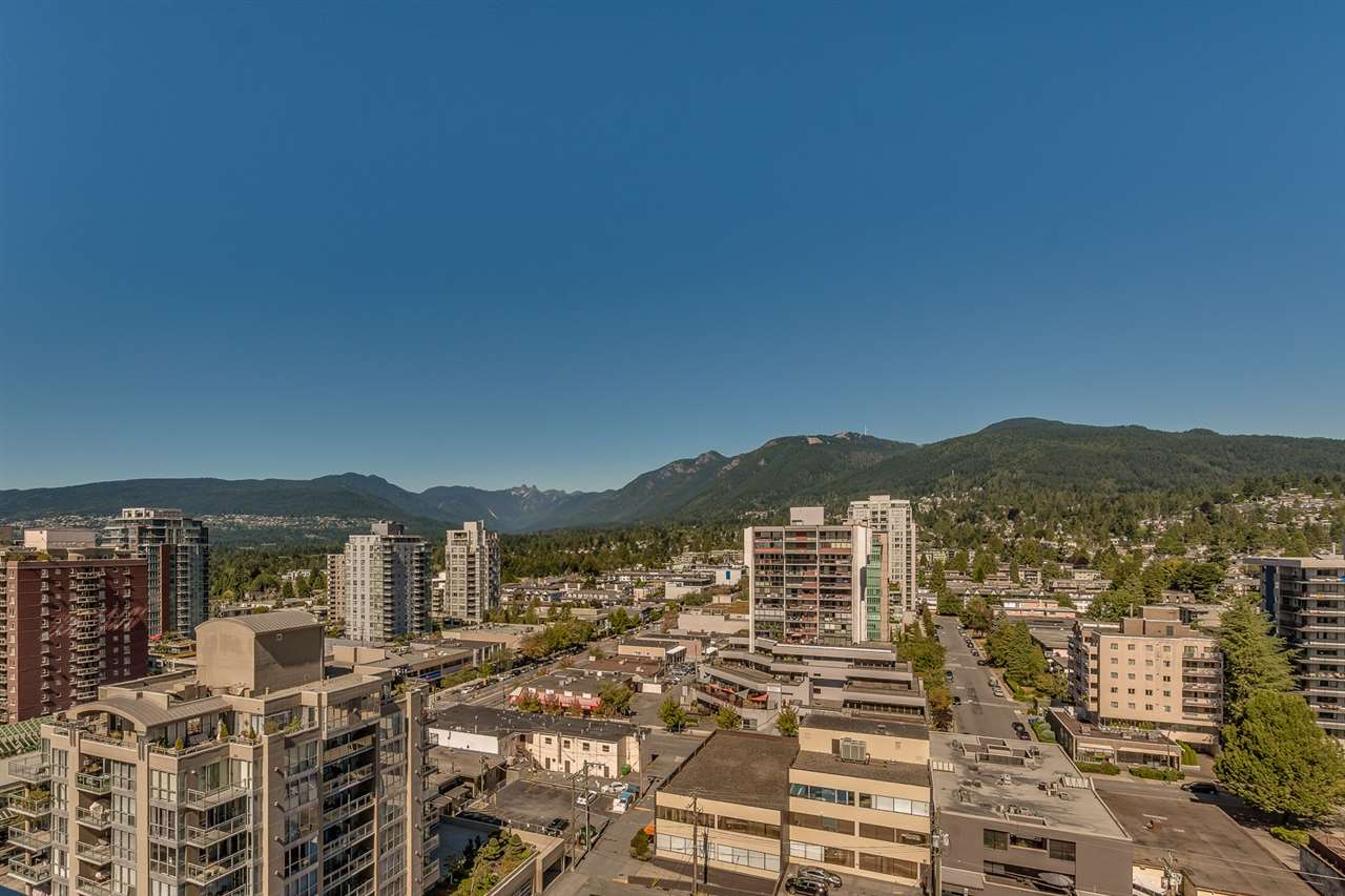 """NEW! Centerview at the most desirable location with modern finishing and exceptional amenities. This 2 Bed/2Bath NE Corner unit has spectacular view from North Shore Mountains to SFU Burnaby mountains and some water view from the Balcony. High ceiling (8'10"""") Excellent quality flooring, Cabinets, appliances, and Countertop. Unit comes with air conditioning, 1 parking, storage, & 1 bike locker. Live in hearth of North Vancouver just by Whole Foods and Restaurants with easy NO Traffic commute to Downtown(via Sea Bus). No doubt the amenities are absolutely the greatest with Pool, Hot Tub, Gym, Squash court, Media room, Lounge & Great Outdoor area with BBQ for entertainment plus 2 Guest suits. Open Sun Oct 15th 2-3:30"""