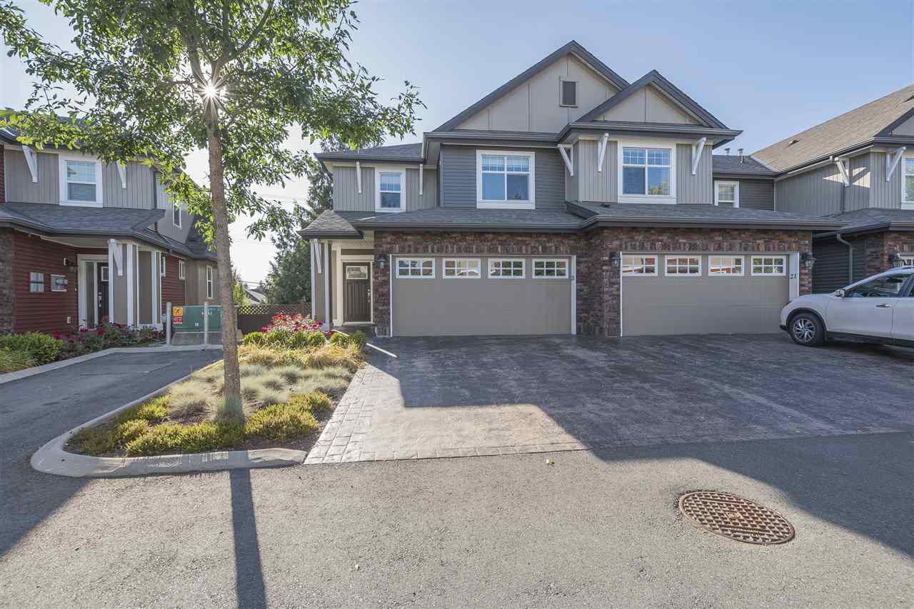 Amazing end unit townhome boasting 2225 sq. ft. located in popular Kingsbury Place in central Sardis. Walk to schools, recreation, shopping, and close to bus route. Top notch finishing throughout w/designer updated paint, lighting bi.i.vac & more! Bright & spacious walk out bsmt w/wired media area, surround sound, spa like bathroom w/heated tile floor, jetted tub, flex room (could be 4th bdrm) & storage area. 3 bdrms up with large master suite incl. deluxe w/ensuite. Well appointed kitchen w/sparkling quartz counters, stainless appl. & eating bar. Fully fenced yard, double garage, driveway long enough to fit large truck & SUV. Premium townhome, won't last.