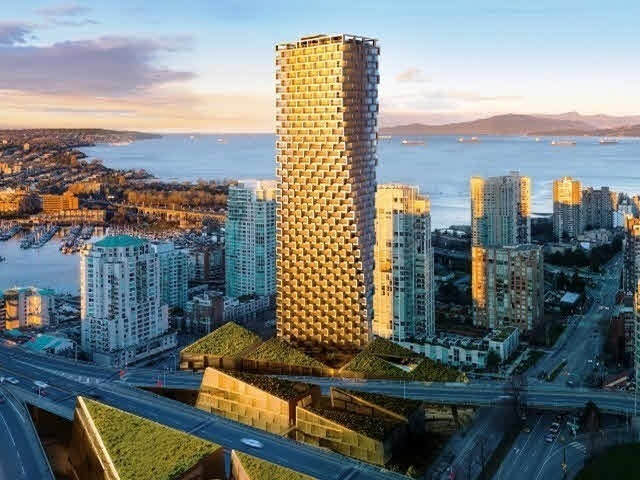 This unit is one of the 50 estate homes available in the iconic VANCOUVER HOUSE. Unobstructed water beautiful panoramic views of English Bay, Stanley Park, and the beautiful north shore mountains. This unit has a total living space of 2,262 sq ft, 2,136 sq ft indoors and 126 sq ft outdoor. Amenities includes Concierge by Fairmont Pacific Rim, BMW Fleet, wellness centre & 25M lap pool. LEED platinum certifiable, air & water filtration, triple pane windows and advance biometric security system. Premium hardwood flooring can be found throughout. Featuring a Boffi chefs kitchen featuring Miele appliances and custom BIG-designed Corian Island.
