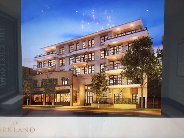 The Kirkland is a refined collection of 20 boutique concrete homes in the vibrant heart of Kerrisdale. The essence of contemporary luxury, a blend of stately tradition & modern urban elegance. The grand New York style lobby welcomes you home in style, while meticulously detailed kichens are finished with beautifully integrated European appliances. This beautiful North East facing penthouse features a large wrap around terrace & 10' high ceilings.