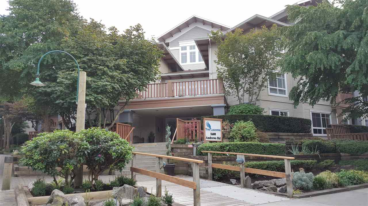 THE LAGOONS at No 2 Road and Steveston. Very well maintained with excellent functional layout. One good-sized bedroom, one bath and storage room. Large deck for entertainment and BBQ activity. East facing with green open view. Facilities include gym room and billiard room. Close to Steveston Village, community center and transportation. Must see to appreciate this neat and cozy home.