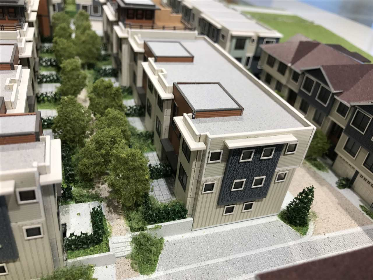 Parc Riviera Mews Townhouses will be finished in 2019/2020. This is a 3 bedroom Townhouse with side by side Parking. It also features Geothermal cooling and heating.  This is an end unit which more features windows and privacy.