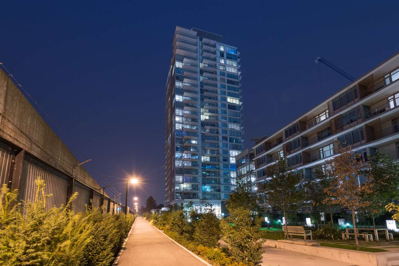 Come live in this sought after building MC2 on Cambie & Marine. Enjoy sitting on your large outdoor balcony watching the planes land at YVR. This luxury 1 bedroom, 1 bath, is 531 sf with high end finishings including - Blomberg appliances, marble backsplash, Ceasarestone counters, Italian cabinets, Grohe faucets, engineered hardwood flooring, roller blinds and more! Steps to shopping, Canada line, easy access to Richmond and Downtown. 1 Parking and storage locker included. See 3D Video:https://rem.ax/2isum0G.  1ST OPEN THIS SAT SEPT 23 FROM 2 till 4 pm.