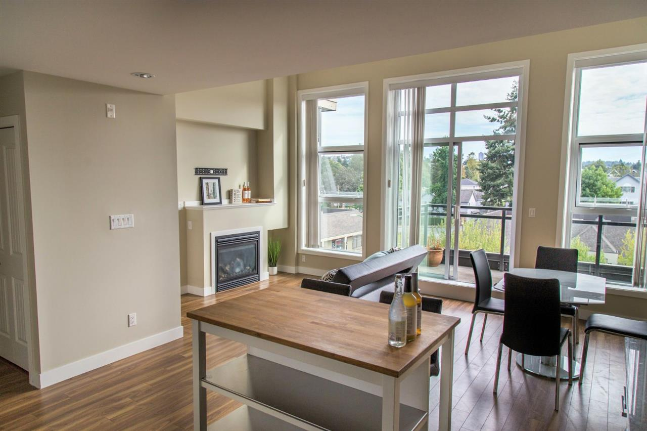 Panacasa is a rare CONCRETE built low-rise building, keeping it extremely quiet between units. This desirable corner end PH unit has 12' high ceiling that brings in Southern sunlight all day long! Open concept with a bright den. It has a wrap around patio that goes around to the NW side with a stunning view of the Mountains and city. Centrally located in a convenient neighbourhood, mins to: BRENTWOOD, transit, Hwy, shopping, parks and BCIT. Open house Nov.12, 1-3pm!