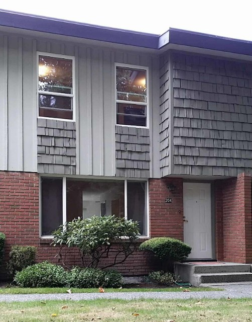 Huge 1809sf 3 bedroom, 4 bath townhouse. Walk to Skytrain & the Mall. Located in a quiet area of the complex. Equipped with a large, 2 car, carport. Above the carport is a large, tiled patio. In the basement is the laundry room with large laundry sink, + a bathroom with toilet and shower & a rec room. On the main level, is the very large living room, kitchen, & 2 pc. bathroom. From the kitchen you have access to the large patio above the carport. Upstairs there are 3 bedrooms, a main bathroom & a 2 piece ensuite. The master bedroom is also equipped with a walk in closet. Complex amenities include a pool, games room and a sauna. Children & pets are permitted. This is a great townhouse in a very convenient area of Burnaby.