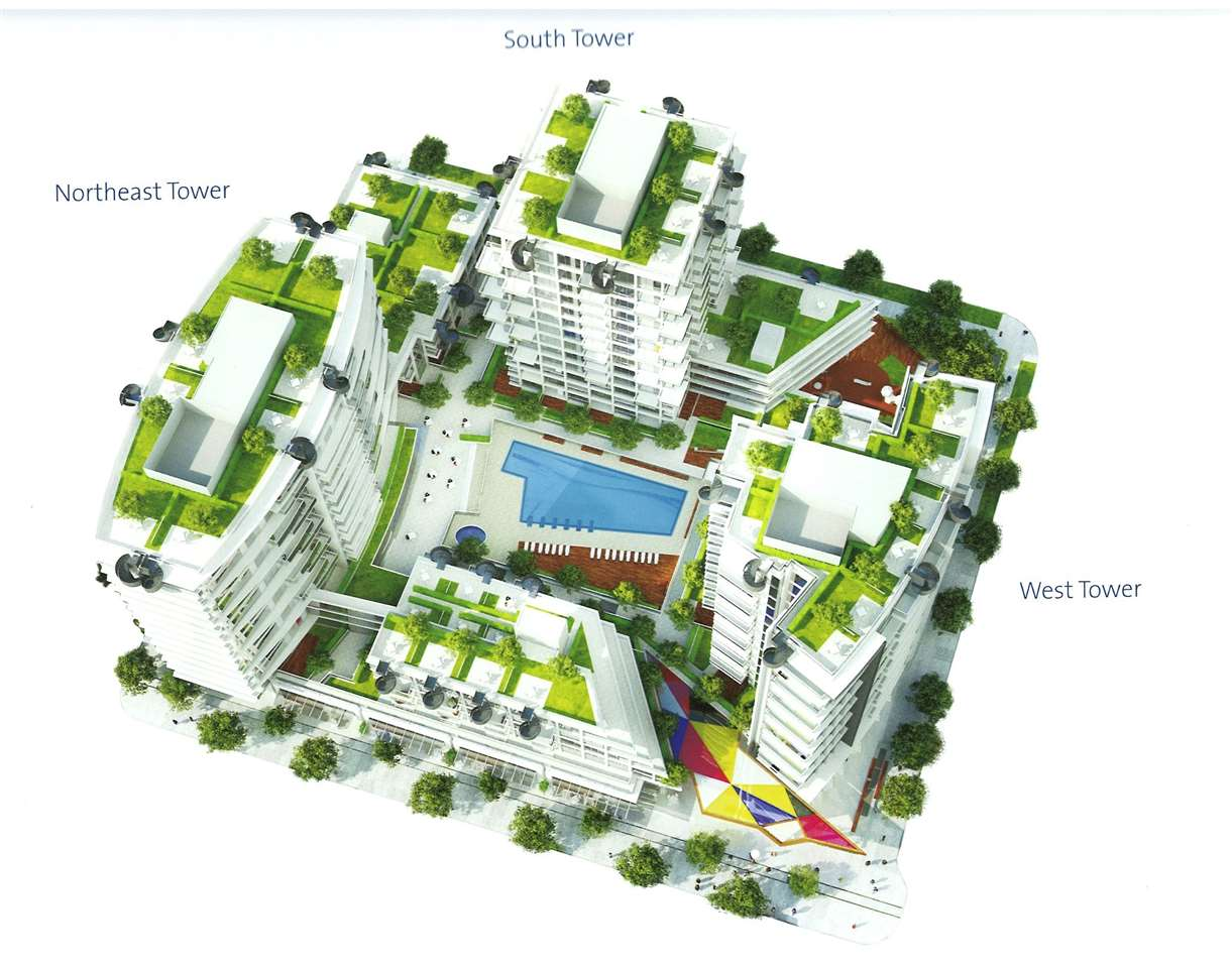 West Tower. 748 sq.ft. two bedrooms plus den, South East facing quiet unit, not facing Kingsway, 2 washrooms, 2 balconies, one parking, air-conditioned, swimming pool, exercise room, sauna, steam room and hot tub. Assignment of contract.