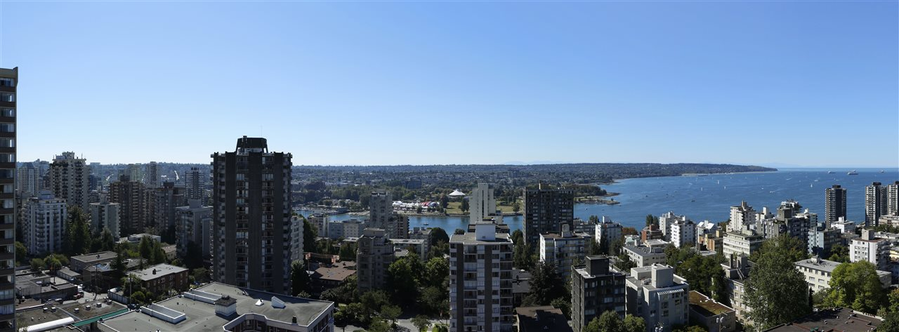 A gorgeous, INFORM designed, INTRACORP developed, spacious PENTHOUSE in desirable West End. Extensive Sunset Beach & ocean views, plus gorgeous city, park & mountain views. Intelligent space planning maximizes natural light, creating a smooth transition between indoor & outdoor living. The home offers some of the finest finishing available in Vancouver luxury living with a premium line of Gaggenau appliances, Italian  wardrobes & bathrooms wrapped in marble. 754 SF ROOF TOP DECK with outdoor kitchen and fireplace plus 374 SF of decks on living level, plumbed with gas. Includes a private DOUBLE CAR GARAGE with storage! The Jervis is a collection of 58 design focused homes. Measurements approx from strata plan. Completion fall