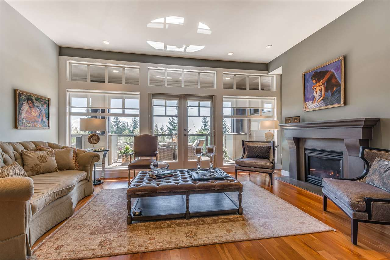 Live in prestigious Chelsea Park in West Vancouver. Chairlift Ridge offers 14 luxury townhomes built by Harbourview in 2005. 3 spacious levels, 3 bedrooms plus office on the same level upstairs, a large rec room below, with an open concept tv room, elegant family room, formal dining, featuring 11' ceilings on the main floor. Chefs kitchen with wine storage, a laundry room, piano area, private patios and a landscaped backyard. Private garage with storage, extra parking in front, and visitor parking spaces. Beautiful and private South facing view! This is a private location that is within minutes to transit, restaurants, Park Royal, medical services, parks, Secondary and Elementary schools, the seawall and more!