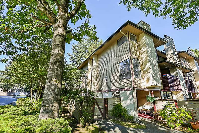 Holly Park?s End unit.  3 level, 2 bedroom townhouse in a ?park-like? setting.  Enter this home through its private, fully fenced garden patio.  Features include insuite laundry, 2 covered balconies, laminate flooring throughout, and lots of storage.  Close to all levels of schools, Guildford Mall, Superstore, transit and parks.  Rentals Allowed.   Offer collapsed. Seller did a price amendment of $350,000, price may not reflect until Oct 23.  Offer presentation Tuesday, October 24 5pm. Open house  Saturday, Oct 21 1-3pm, Sunday, Oct 22 2-4pm