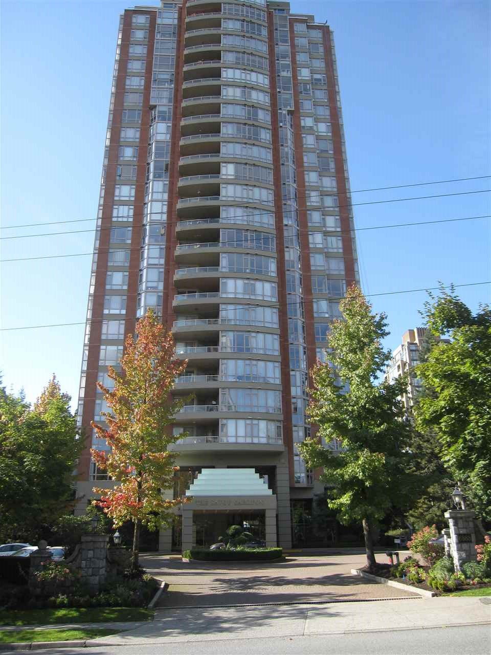 Very easy to show. Excellent opportunity to purchase a lovely 2 bedroom 2 bathroom suite in a very well managed building. This unit boasts a spectacular 180 degree view. Large kitchen and spacious rooms throughout, newly finished engineered wood flooring in living/dining room and hall new carpeting in bedrooms. New window covering on all windows. All rooms completely and freshly painted. relax on your large balcony ideal for BBQ. This unit features Media Rm. Games Rm. Fully equipped exercise rm. Spectacular indoor pool TWO PARKING STALLS AND ONE LARGE STORAGE LOCKER. These units do not last long on the market. This is a must see do not miss.
