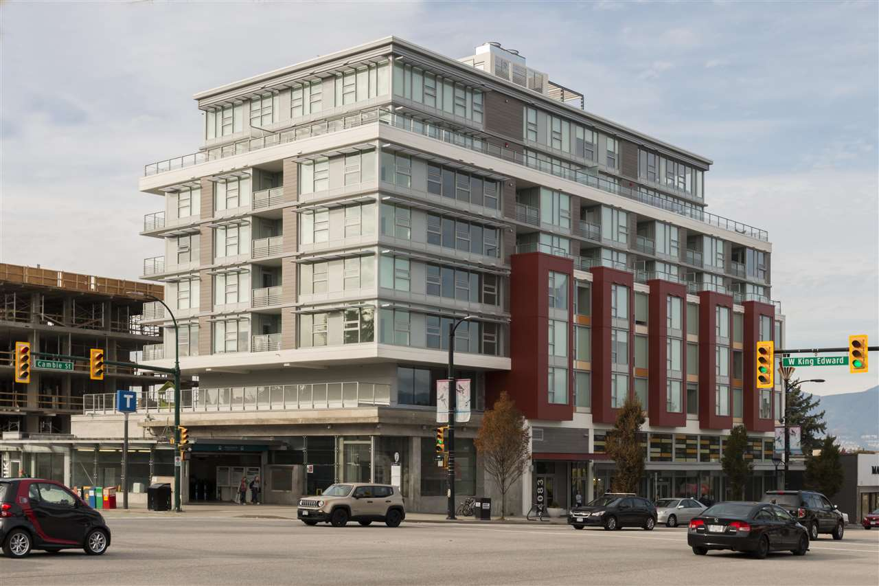 Cambie Star by Yuanheng conveniently located at the crossroads of W. King Edward and Cambie directly above the King Edward Canada Line station. Enjoy everything the Cambie Village has to offer. You are walking distance to Queen Elizabeth park, cafes, restaurants, shopping, and transit. Easy access to downtown or Richmond via the Canada Line. This 2-bedroom, 2-bathroom, plus solarium features a Fisher & Paykel gas cook-top, double drawer dishwashers, integrated LIEBHERR refrigerator and freezer, engineered stone counter-tops, and engineered hardwood floors. Please note the purchase price does not include GST.