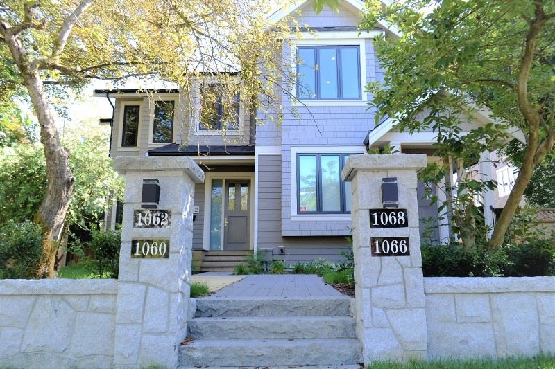 Rarely available semi-detached home in this top Shaughnessy location. Spacious 3 bedrooms with professional series appliances, 4 in 1 microwave, hardwood floor throughout, durable hardwood stairs, hot water radiant floor heating and HRV. Single garage, mature landscaping, 313 SF crawl space in basement can use as storage. 4 units self managed, NO STRATA FEES. Call for a private tour. Other 3 units 1060/1062/1068 W16 also for sale and on MLS too.