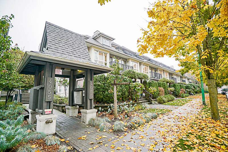 """""""Redbrick"""", centrally located in North Burnaby's most convenient neighbourhood. This 3 bedroom and 2 bathroom townhouse provides almost 1,200 sqft living space. It features a roof-top patio with panoramic city and mountain view. Vaulted ceiling kitchen with maple cabinets, granite countertop and stainless appliances. Attached garage (can be used as storage room) to the unit plus one additional underground parking lot makes it unique in this complex. Walking distance to restaurants, shop, and transit. Close to BCIT, SFU, Brentwood Shopping Center and Vancouver Downtown."""