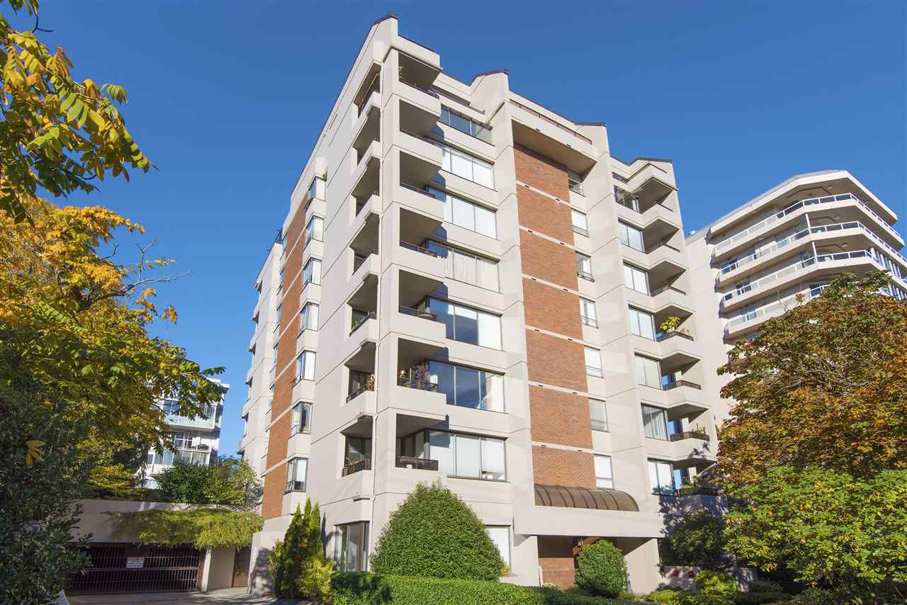 A gorgeous 2 bedroom condo at the popular Bristol in the heart of Ambleside.  A 4th floor south east corner unit in a concrete building. Tastefully updated throughout and features a  gourmet kitchen with stainless steel appliances, tiled backsplash, new cabinets and quartz counters. Very functional floor plan offering  living and dining area that opens to a covered south facing balcony (BBQ?s okay).  Includes 1 parking and 1 storage locker. Rentals not allowed, no dogs, cats with strata approval only. Walk to everything that Ambleside has to offer.