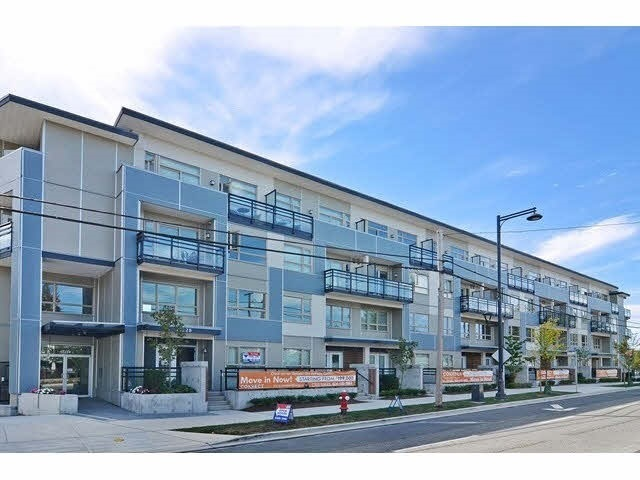 Quiet side ground level unit in a well managed building with a very generous patio. Excellent location close to Skytrain, Central City shopping centre, North Surrey Rec Centre, Holland Park, City Hall, SFU, T&T, etc. Featured in Granite counters and stainless steel appliances, laminate flooring. Low strata fee including gas and hot water. RENTALS ALLOWED.