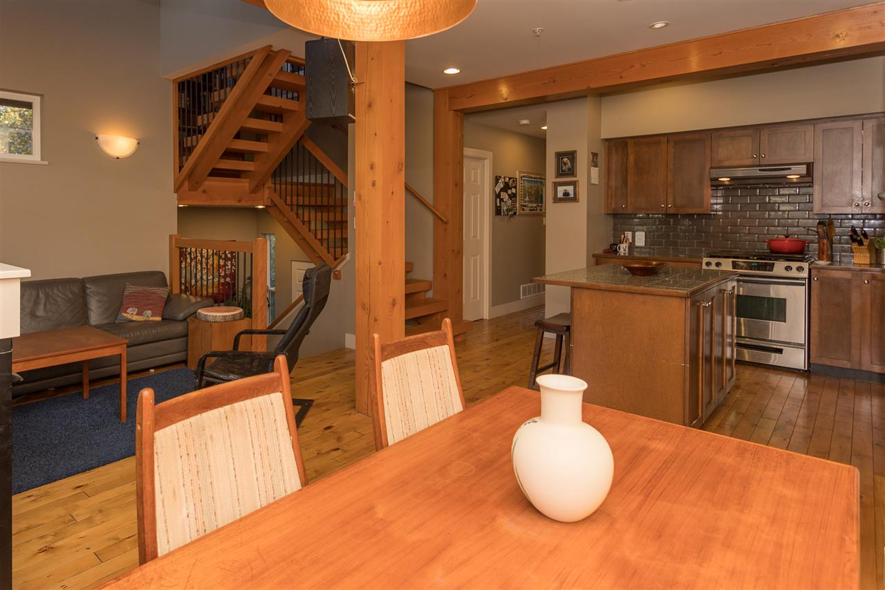 Top 15 reasons to make this your next home:  1. Recreation Capital of Canada 2. Close to schools, recreation, rec center, river 3. The views are amazing! 4. Stunning wood beams throughout the home 5. Open kitchen with gas range - perfect for hosting 6. End unit, and as far away as possible from the road 7. Bonus side yard with manicured grass and room for snow angels/snowman 8. Slabwood Staircase 9. High-end finishes, come and see for yourself! 10. Master Bedroom on Main Floor 11. Private sun deck off master bedroom 12. Unfinished basement in garage for woman/man cave or shop 13. Loft could be converted into a forth bedroom (making 3 up) 14. Jetted tub to relax in ensuite 15. A mere hour from Vancouver and 40 min from Whistler BONUS: There is air conditioning!   Call for your private showing today!