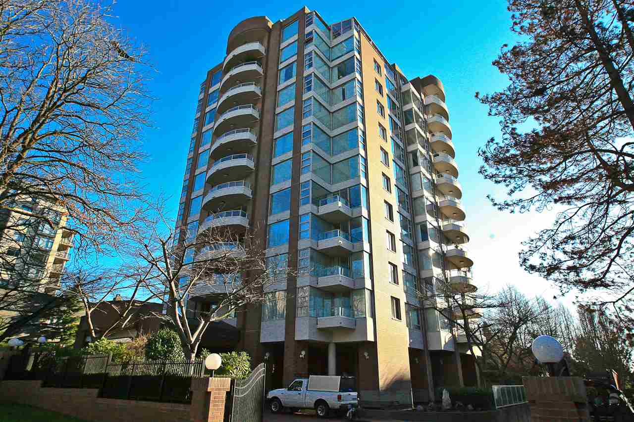 Welcome home to the tranquility of the St Moritz!  A prestigious building in the heart of bustling Kerrisdale.  This 2 bedroom unit offers an unencumbered southern view of the Gulf Islands , Vancouver Island and Mt Baker from all rooms.  Take your morning coffee onto the large balcony and enjoy the sweeping view.  Drive up to the elegant porte cocheres and enter the grand entrance lobby surrounded by a reflecting pond with Koi.  The building also offers a resident caretaker for peace of mind and BEAUTIFULLY manicured gardens and an outdoor swimming pool with large patios - all for your enjoyment.   A stone?s throw to shopping, restaurants, community centre and the Arbutus Greenway?.the ideal location.  The unit also comes with bonus 2 parking stalls and a large storage locker.