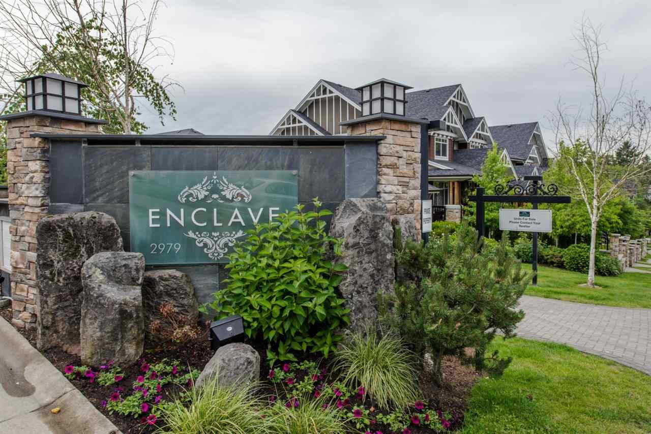 Welcome Home to the ENCLAVE! This highly sought after location awaits you. Located in the Grandview/Morgan Heights neighbourhood in South Surrey area you are only minutes to the shops at Grandview corners, Morgan Crossing, the newly built Grandview Aquatic centre, minutes to the beaches, border and schools. This beautiful 2 bedroom 2 bathroom townhome features open concept and spacious living, with the kitchen, dining and living room on the main level, along with ensuite in the master. A tandem garage with lots of storage completes this spectacular home. Live in a location that meets all your needs for any age even that favourite pet is welcome! Open house Sat/Sun Nov 11/12 2:00-4:00 pm.