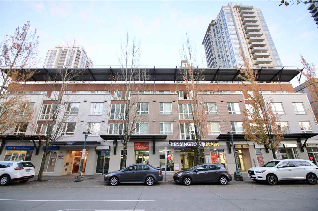 Welcome to this South facing 1 bed 1 bath unit in North Coquitlam. This unit offers open concept living & dining room w/a gas fireplace. This is the only one bedroom suite with a patio and the only unit which has a wraparound patio in the complex. Recent upgrades include stainless steel appliances, new kitchen and bathroom flooring, LED lighting in living, dining, kitchen and bathroom. Newer roof (2009) & boiler (2016). Access to Evergreen Line is just steps away. Convenient destinations and steps away from shopping and restaurants in Coquitlam Centre. Schools in proximity include Glen Elementary, Maple Creek Middle, Pinetree Secondary and Douglas College.