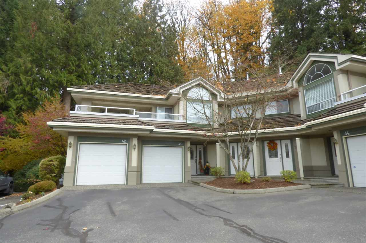 Bright spacious airy sought after upper unit in Cedar Springs. This 1687 sqft, 2 bdrm, 2 bath 1 level home enjoys beautiful view of trees & lawn & sunset from it's large balcony. It features single garage + 1 common area spot, gas f/p and 5 appls. Gated complex is adulated oriented, not rentals, 2 pets ok, $315 strata. Clubhouse, indoor pool, spa, exercise room and quiet walks. Well managed and a please to show.