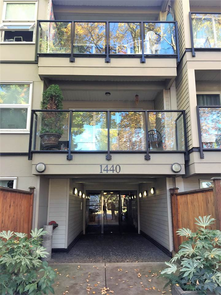 FIRST TIME BUYERS and INVESTORS alert! Top floor central 1 bed/1 bath unit located 1.5 blks from Commercial Skytrain/B-Line Station. Bring your decorating ideas! Excellent building with recent upgrades: elevator, plumbing, rainscreen, new windows and roof. Tenanted. First showing at open house Sun, Nov 12th 2-4pm. Come for a visit! Won?t last long!  SOLD.