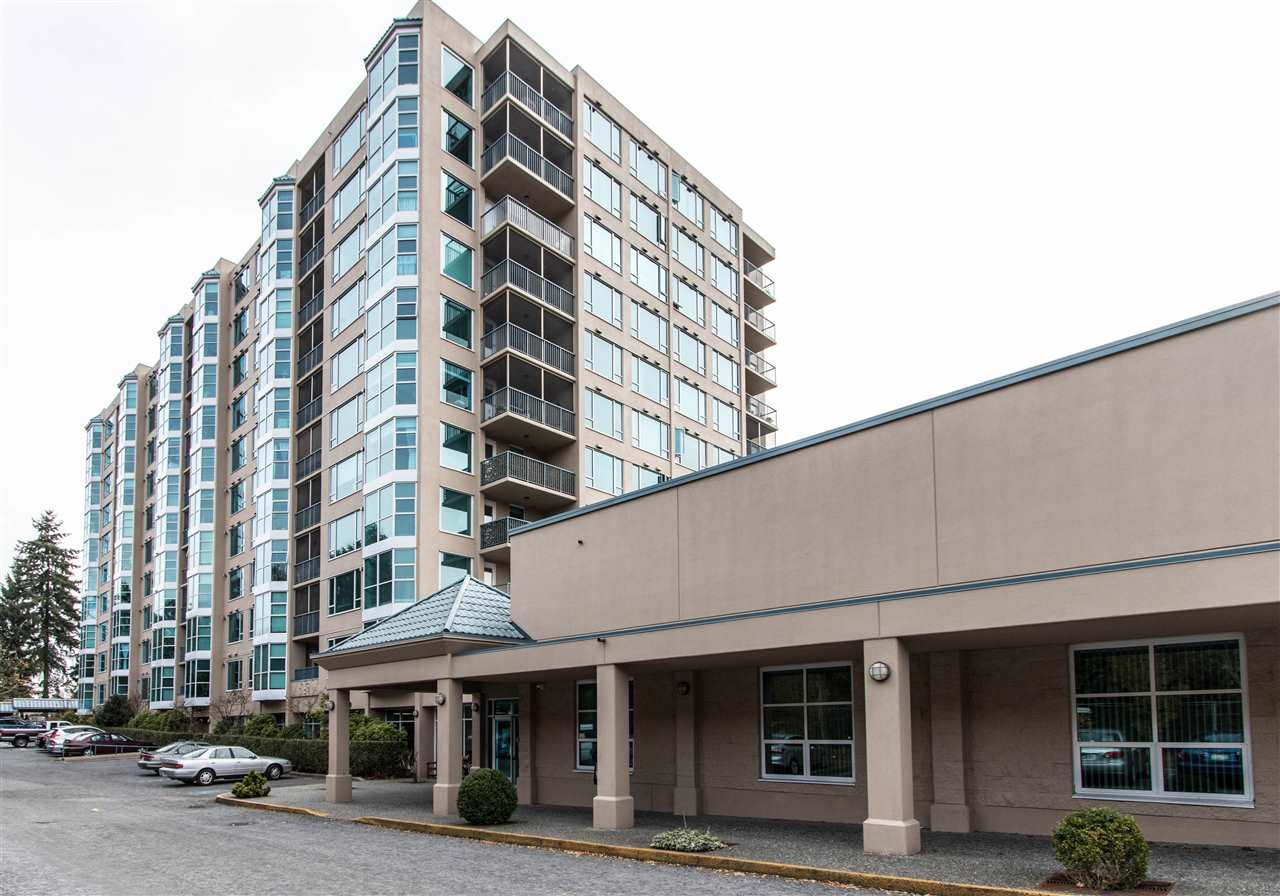 Spacious, 1300 sqft, 2 bdrm, 2 bath CORNER UNIT in PANORAMA, a sought-after 55+ complex located in the heart of the city, adjacent to the Maple Ridge Seniors Centre, which, for a small membership fee, comes complete with access to lots of activities and amenities, incl a hair salon, crafts room, classes, billiards and much more. Corner unit w/ lots of windows and natural light features massive living room and dining room areas, large kitchen with plenty of storage and wood floors, big Mbdrm w/ full ensuite, and bonus -- solarium!! -- great for a sitting room, reading room, or office.  North facing unit means you won't have to contend with the Southern sun and heat! Fully covered patio off the kitchen and gas f/p.  Ticks all the boxes - plus the safety of a concrete building! Immediate possession available!