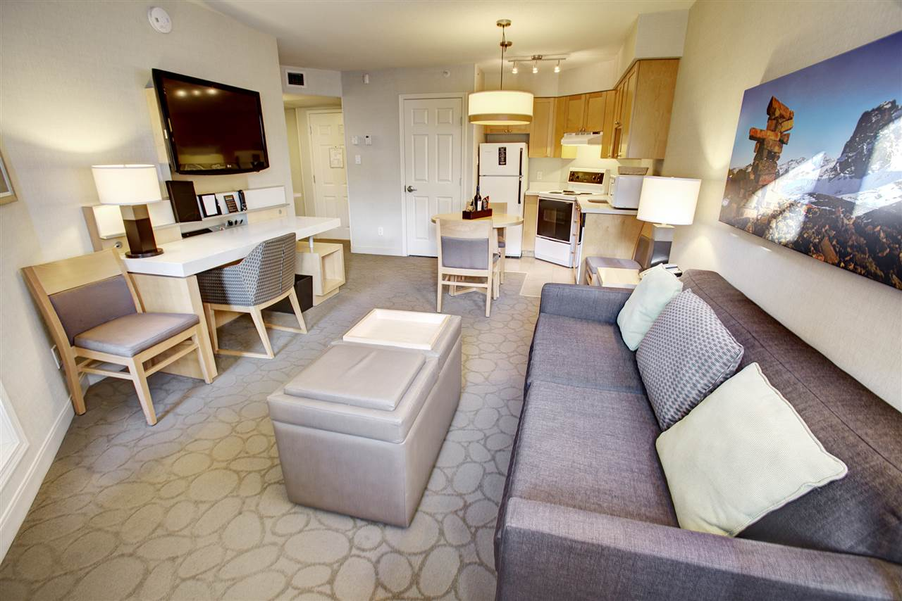 Completely renovated and centrally located, 1 bed & 1 bath Phase 2 unit at The Delta Whistler Village Suites! This unit allows for 56 days of owner use and generates revenues when you are not using personally. The Delta features a sunny pool, 2 hot tubs, sauna, UG parking, restaurants a full service spa & excellent staff! This unit is available for you and your family, just in time for an awesome winter! Call me to arrange a private viewing.