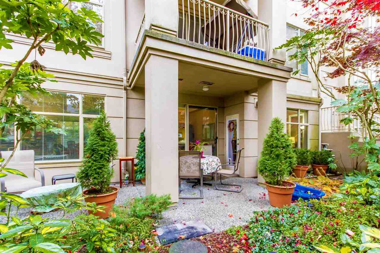 YOU?LL LOVE THIS GORGEOUS ONE LEVEL TOWNHOUSE STYLE 2 BDRMS, 2 BATHS END SUITE LOCATED ACROSS FROM PRESTIGIOUS WESTWOOD PLATEAU GOLF & COUNTRY CLUB. WITH YOUR OWN PRIVATE ENTRANCE & A LARGE FULLY FENCED YARD W/COVERED PATIO & SOME MOUNTAIN VIEW, A PLACE YOU'RE PROUD TO CALL HOME. SPACIOUS OPEN LAYOUT ACCOMMODATING LARGE FURNITURE, W/ 9? CEILING & BEAUTIFUL BRAZILIAN CHERRY HARDWOOD FLR THROUGHOUT, LARGE GOURMET KITCHEN W/NEW BACKSPLASH & APPLS + A NICE SIZE EATING AREA. BOTH BDRMS OVERLOOK BEAUTIFUL GARDEN. LARGE MASTER W/FULL ENSUITE, LARGE SOAKER TUB & SEP. SHOWER. 2 PARKING & 1 LOCKER. CLOSEBY TRANSIT TAKES YOU STRAIGHT TO COQ. MALL & SKYTRAIN. HAMPTON ELEMENTARY & PARK, PLAYGROUND, TENNIS, GOLF + HIKING TRAILS ALL NEARBY. RENTALS ALLOWED, 2 DOGS/2 CATS OK.