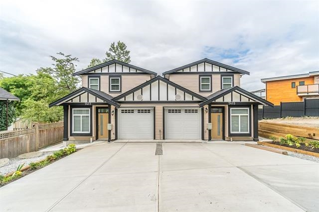 Beautiful new half duplex in the quiet street, designed and built by experienced builders.very rare big duplex lot (12,036sqft) in south burnaby , this house offers total 7 bedrooms :1 master bedroom / ensuite , 2 bedrooms and 1.5 full bath up, and huge bonus suite potential rough in for kitchen,living room, full bath and 4 bedrooms in the main.Potential rental suite in the main with seperate entrsnce is a very good mortgage helper. Close to transit , school, shopping (market sq, Canadian tire , save on food ), and easy access to RMD , new west. Must see your dream house.open house: DEC 16/17. Sat/Sun, 2-4pm