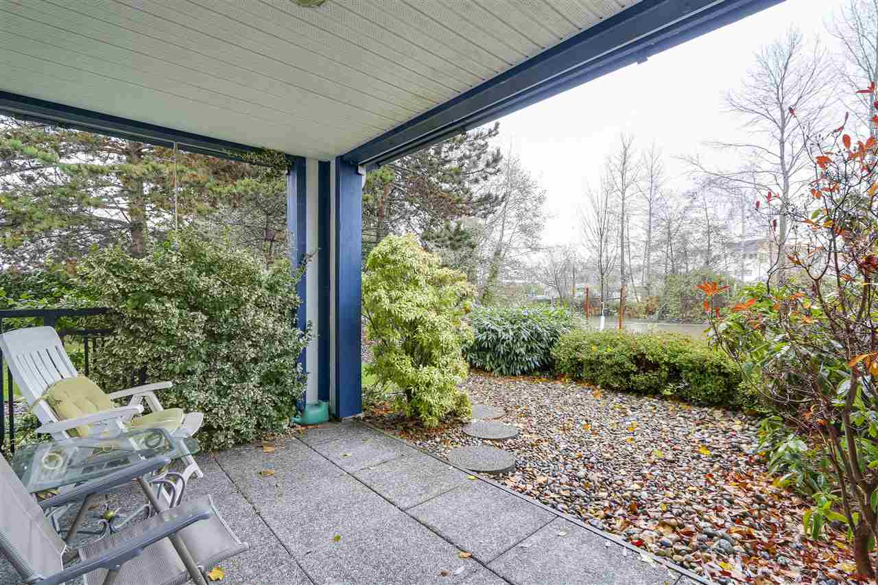 Don't miss out on this spacious 1438 sf ground floor condo on the river located in SHOREWALK COMPLEX in the heart of Historical Ladner Village. This bright and sunny corner move-in ready condo features 2 large bedrooms, den or office, 2 full baths, spacious eat-in kitchen with pantry, cozy gas fireplace and private southwest facing patio. Perfect for leaving the car at home, walking pets on the trail or just strolling to local restaurants and amenities. LEISURE LIVING STARTS HERE!
