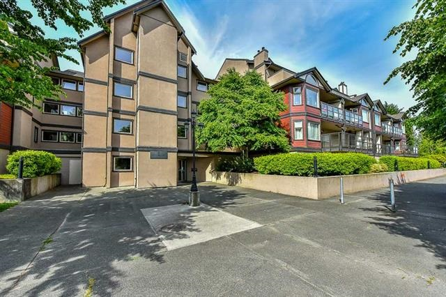 Ladner Pointe luxurious appointed 2 bdrm. Huge deck area, spacious LR & DR. Marble ceramic tile, oak cabinets, impressive laminate flooring throughout. Secured parking, great location and right next to shopping. Excellent price.