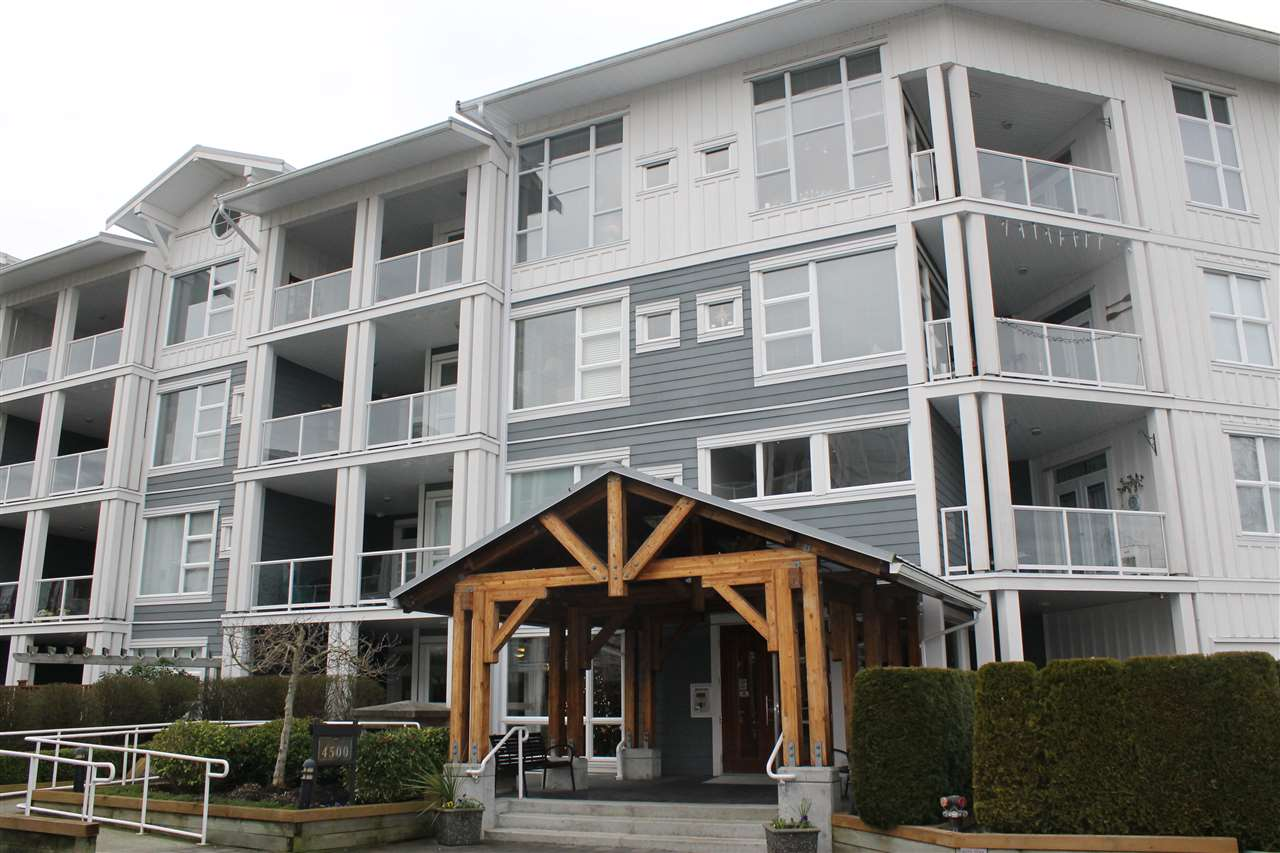 "Cozy and clean 2 bedroom, 2 full bath Garden Apartment in ""Copper Sky West"", Steveston's Premier Waterfront Complex! Unit has had very little wear and tear and shows like new. Located on the ground floor, it features a private patio/garden with direct access to private walkway. Its like a small townhouse! Beautiful wood floors, granite counter tops, Gas Stove. Excellent rec facilities include exercise room and games room/lounge. This is an fabulous building in an unbeatable area of the lower mainland! Step out your back door and you are seconds away from beautiful river walks and a short stroll to Steveston Village and all its trendy amenities! Rarely used furniture is negotiable and could be included in the sale. Pets allowed."