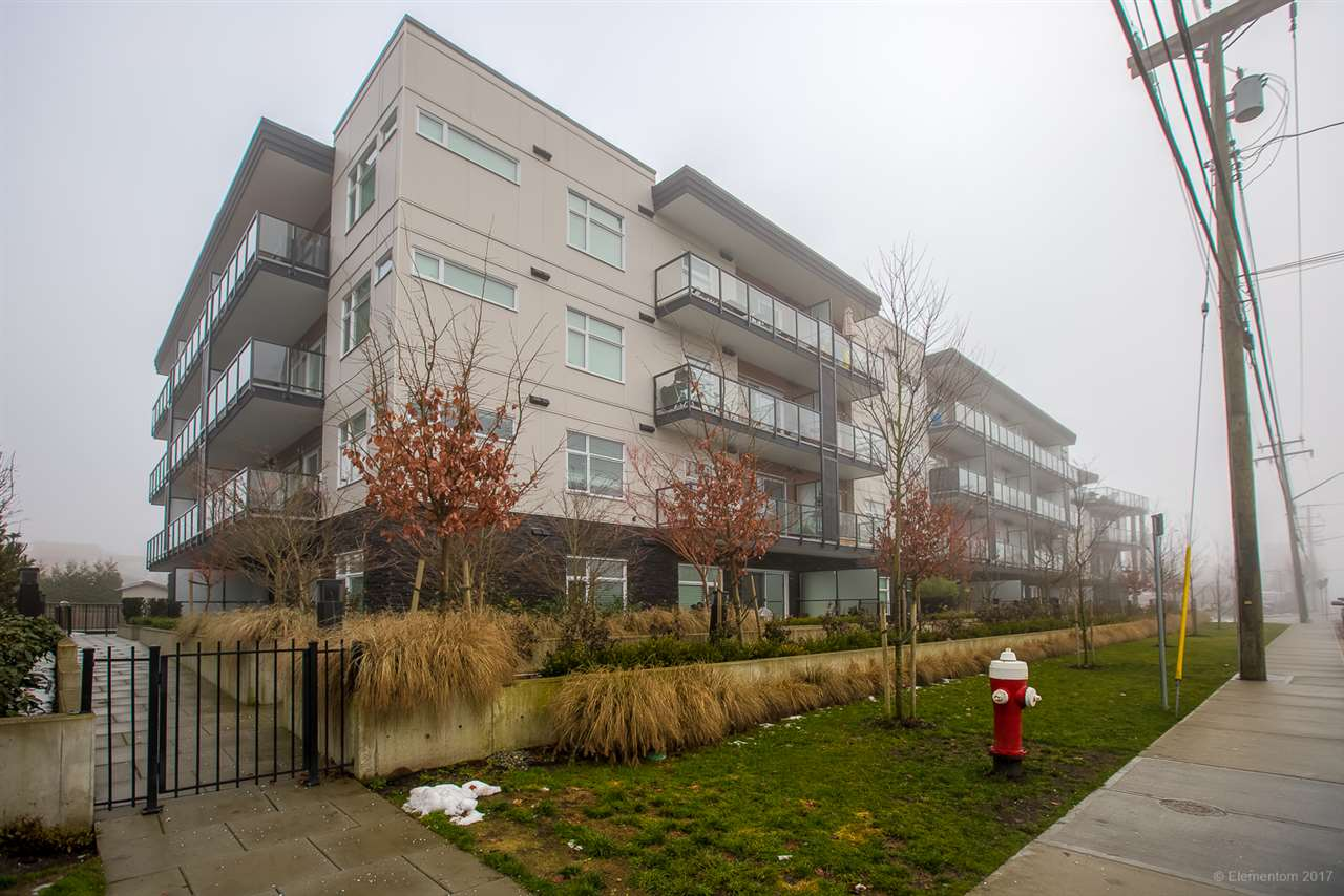 """Gorgeous Modern one bed condo in sought after """"Station One"""" offers huge patio, open concept kitchen, living area, 5 appliances, en-suite laundry, 9 foot ceilings and higher end finishings. Peace of mind remaining 2-5-10 warranty, 1 covered parking. A must see unit! Walk to transit, shopping, recreation or relax in your pet friendly home, chill on your west facing deck and entertain with pride! Open House Sat/Sun Jan 13-14 2:00-4:00pm. Hurry for this gem!!"""