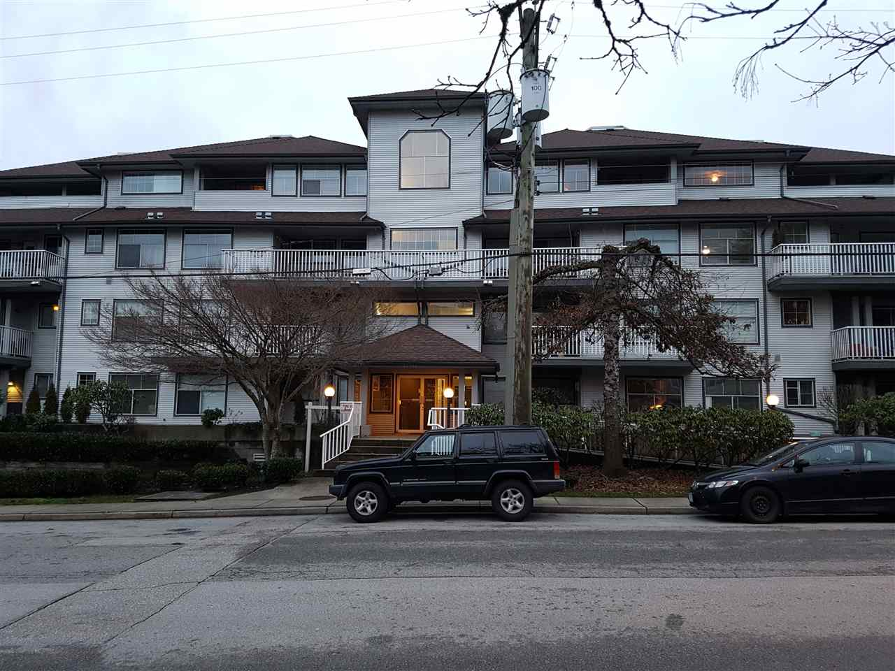 Cute 1 bedroom unit on the West side of Maple Ridge, close to schools, shopping, and transportation, including West Coast Express. Simple layout features functional kitchen w/ lots of counter space, large living room and dining area, big master bedroom w/ semi-ensuite, and large laundry area w/ room for storage. Hot water heating included in strata fees.  Big, mostly covered deck w/ Southern exposure. 1 parking and 1 storage locker.  Great unit for first time home buyers, downsizers, or investors.  Immediate Possession available. Open House Sat Jan 13 2-4pm.