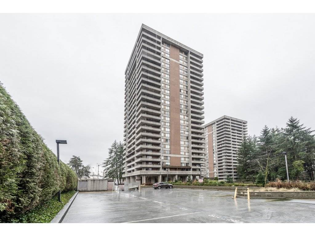 This bright and spacious 1 bed, 1 bath open floor plan condo is a must see. Large wrap around balcony provides you with a panoramic view of the city. Updates include kitchen, stainless steel appliances and laminate flooring. Steps to Lougheed Mall, restaurants, skytrain/transit and SFU. Excellent recreational facility: indoor pool, hot tub, clubhouse, exercise centre, workshop, party room and more. Strata fee includes: heat, hot water and hydro. This home comes with 1 parking and 1 storage locker. Call today for your private showing.