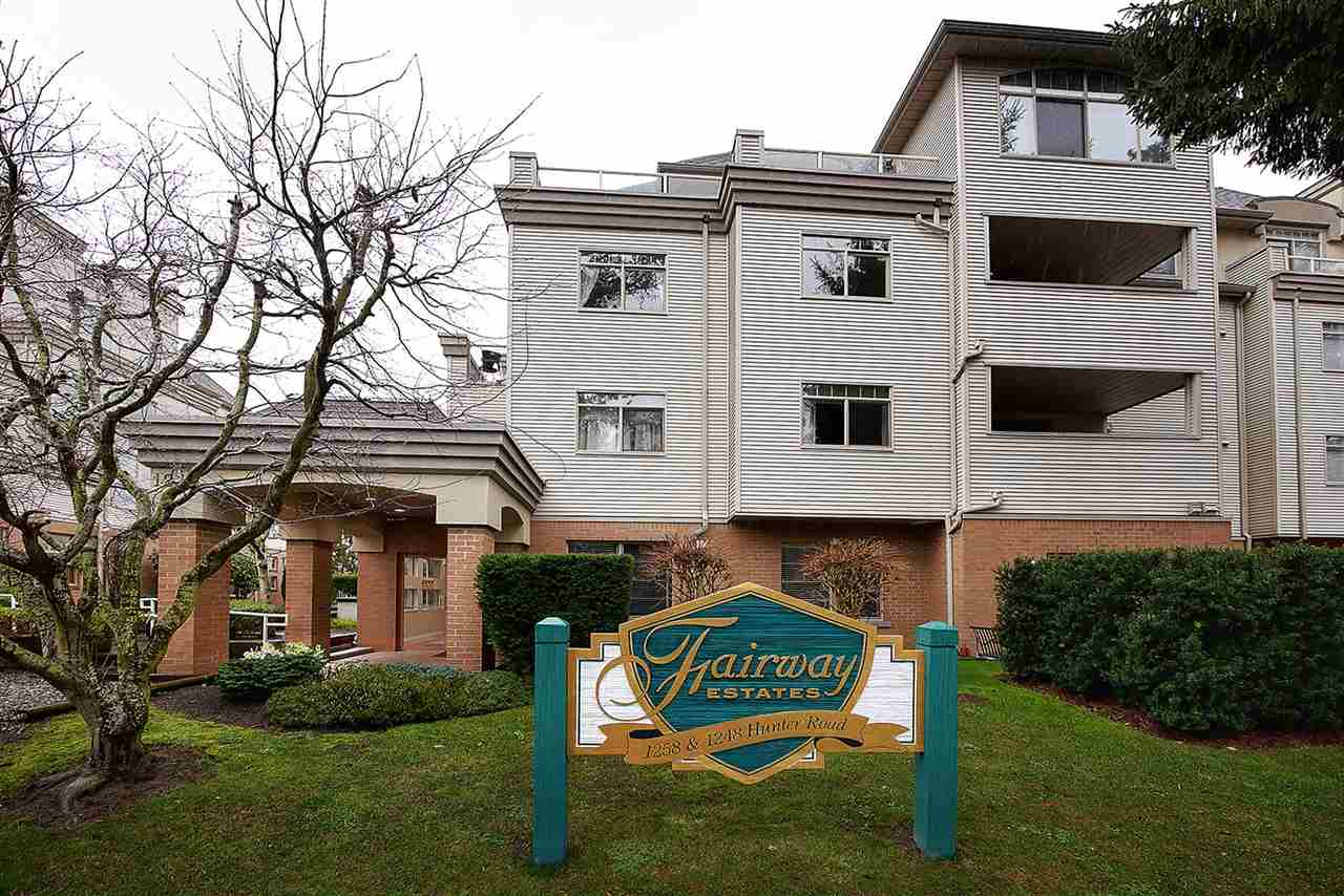 FAIRWAY ESTATES - very desirable complex & location!! Rarely available 2 bed, 2 bath S/W corner unit on QUIET tree lined cul-de-sac. This bright & spacious condo has been meticulously maintained & features large master suite with walk in closet & 5 piece ensuite, full guest bath, in suite laundry, cozy gas f/p & spacious S/W exposed deck. Includes secure underground parking & storage locker. Maintenance fees include gas, hot water & heat. Well run complex & great place to call home! Walk to quaint coffee shops, stores, restaurants, medical center, beach, golf course & transit. SUNNY TSAWWASSEN - minutes to border, ferries, YVR, city & Tsaw. Mills Mall. OPEN HOUSES: Sat. & Sun. Feb. 17 & 18  from 2-4pm.