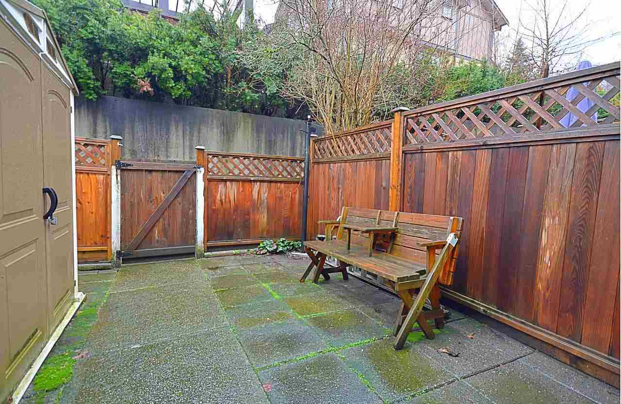 "Fantastic value for this 2 bedroom and 2 bath townhome unit in Maillardville. Self managed 5 unit small complex. Front and back fenced patio/yard for some privacy, 2 parking stalls. Close to Hwy #1, shopping, bus, schools, Port Mann Bridge. Hot water heather (2011), exterior painted (2010), fence (2016), vinyl windows (2006), hardwood flooring (2006), roof (2005)  and gutters (January 2018). Bring your own ideas to call this place ""Your home""!"