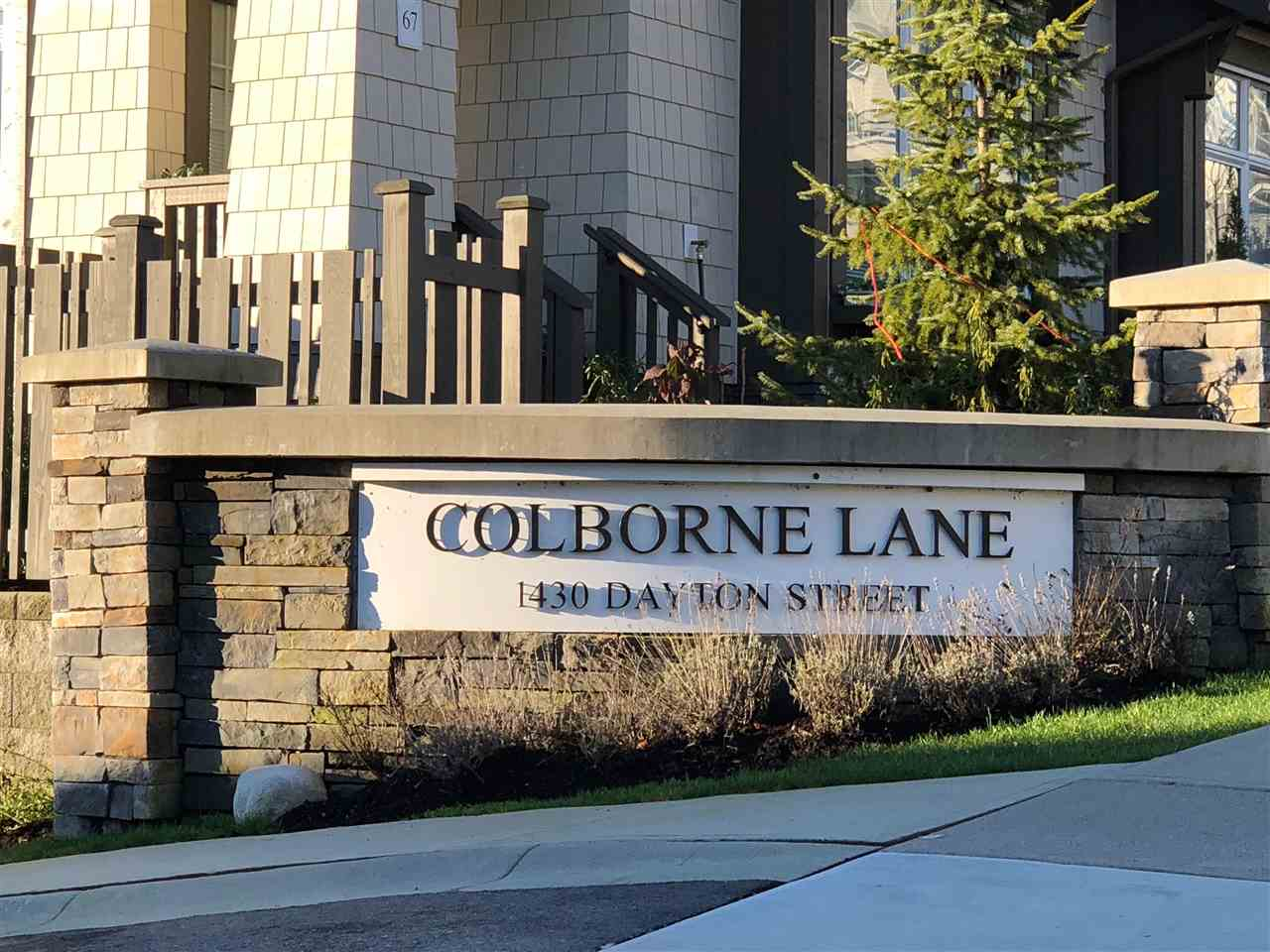 Colborne Lane by Polygon. Spacious duplex style townhouse backing onto your private yard facing greenbelt space. Open floor plan which is bright with clean finishing. Quartz counter tops, stainless steel appliances, wood laminate floor, extra high ceiling. Upstairs has 4 bedrooms with 5 piece master ensuite. Side by side double garage and visitor parking lot is right in front. Walking distance to parks, schools and transportation. This is your new home!