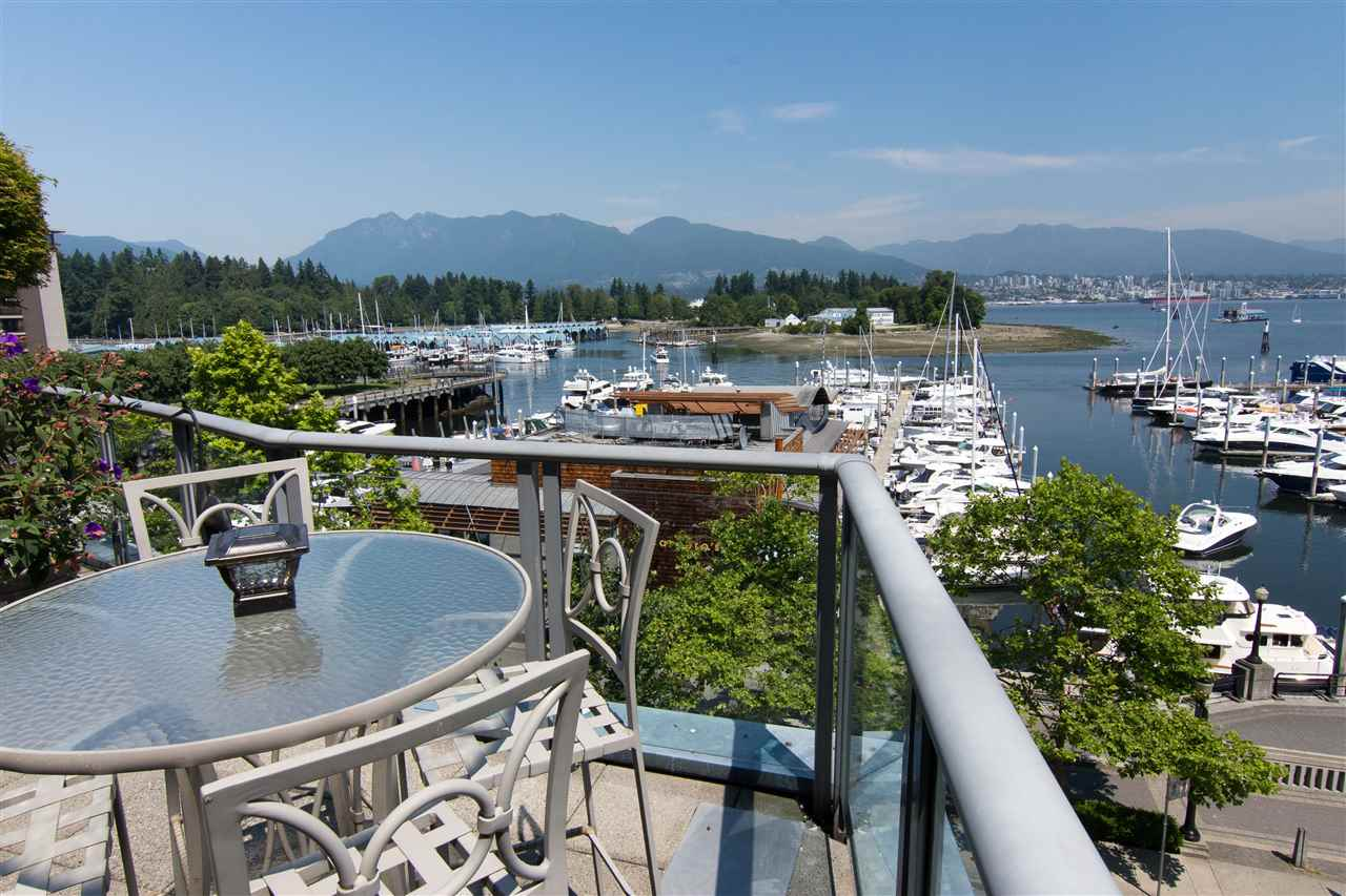 Amazing waterfront patio home. 3882 sq ft indoor+1500 sq ft private, landscape garden-patio - irrigation, lighting & gas firepit - a total of over 5000 sq ft of indoor-outdoor living on the Coal Harbour waterfront. Coal Harbour, mountain, park views. Expansive open-plan living area. Reno'd 2016: Kitchen, bathrooms, LED lighting, flooring & paint. Gorgeous kitchen features marble, SS Miele appliances & double wine fridges, large separate dining rm, full walk-in pantry with 2 more fridges, large office (or 4/5th bedroom), laundry rm, insuite storage & workshop. 2 large master suites 2/WIC, plus an adtnl bedroom. Now 3 bedrooms + office - can be 4 or 5 bedrooms. 4 pkg, 4 stg lockers. Pets/rentals allowed. By appt only.