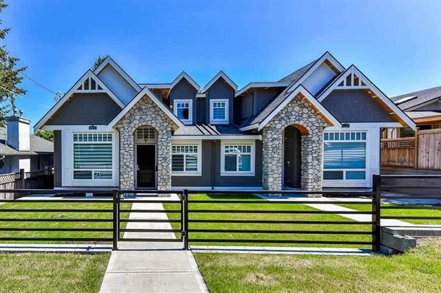 Quality built & amazing boutique home stands out Open house Saturday Feb 10 1-4 p.m.in very popular & prime Upper Deer Lake. Grand Entrance w/Vault ceiling at lvg rm fitted w/high end wood radiant heat flooring & modern crystal chandeliers throughout, custom moldings, lighting and wall features, contemporary fireplace, blt-in vacuum, security cameras. Kitchen leading to gated private yard enjoy SPECTACULAR MOUNTAIN VIEW. Upstairs comes w/3 rms, 2 baths & enclosed big balcony for all year activities. Potential 1 bdrm suite at main with separate entrance. Lane access garage w/extra parking area. Central location walk to Ecole Brantford Elementary, Bus, Deer Lake Park + short drive to Highgate Village, Metrotown, Restaurants, Bonsor & Edmonds Recreation!