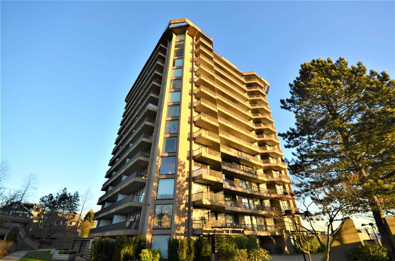 TThe bright and specious  2 bedrooms  + 1 bath + 1 parking + 2 large balconies corner unit. Solid BOSA  built concrete highrise with breathtaking views of the Ocean, mountains, mount Baker, and city. Parking 217. Storage locker  117. No pets. Rentals allowed up to 11 unit in the building.Open House: Sat, Feb 17th, 2:00-4:00 PM.  Offers (if any) will be presented by listing agent on Tues, Feb 20th after 6:00 PM.