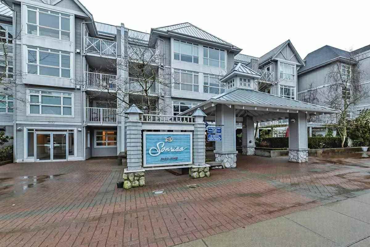 Your search is over! Beautiful, large, bright, well maintained two-bedroom apartment with two full washrooms in Port Moody's most sought after complex in Sonrisa. Building totally renovated in 2016, new roof, new windows, up graded common areas. This apartment has bright and open living and dining area with engineered hardwood, tile and new carpet in bedrooms, large patio to enjoy your morning coffee. It comes with one parking and one storage. Amazing amenities-indoor pool, sauna, gym, and children's playroom. Walking distance to evergreen line, West Coast Express, Rocky Point, restaurants and shopping. Open house Feb 17 and 18 from 1-3