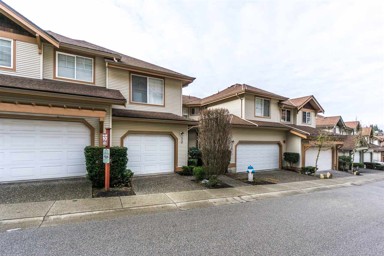 Check out this spacious East Abbotsford townhome with over 1800 sqft of living space. Its the largest floor plan in the complex with 3 bedrooms, 4 bathroom including rare powder room on main. Main floor features a white kitchen with stainless steel appliances, living room, dining room & deck with view of M t.Baker. Large recreation room below with walk out to private lower covered patio overlooking greenspace. 4th bathroom (3pc) & laundry. Three bedrooms up with extra large master and ensuite. Strata fees are $310/Monthly. Pets and rentals are allowed with restrictions. Comes with 2 parking spots. Single car garage. Call today for your personal tour
