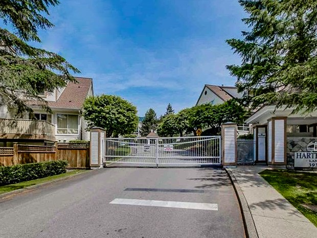 """Welcome to the """"Hartford Lane"""" gated complex in Indian River North Vancouver. This wonderful 3 Bed 3 Bath Townhouse comes with over 2300 SQFT of comfortable living space. Features include Master bed walk in closet plus large shower with wine room in basement. Main floor brilliantly combines kitchen with dining room space and bright living room with private balcony. Basement includes fully finished workshop and rec room. Unit includes Private backyard space with convenient move in/out path through the fence. 2 parking spots available. Plus additional visitor parking. Just minutes from Mount Seymour, Parkgate Village and the famous Northlands Golf Course. Local Schools include Seycove Secondary and Dorothy Lynas French Immersion. Just minutes to Deep Cove. OPEN HOUSE: April 14th-15th 2-4 pm."""