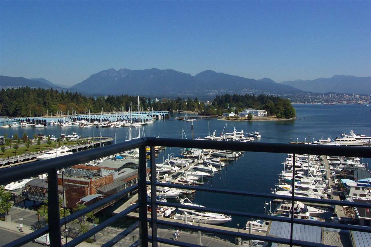 Waterfront bliss at Cascina! This immaculate 2 bed/2 bath waterfront home offers breath-taking, unobstructed Coal Harbour ocean and mountain views. Brand new hickory HW floors throughout. Gourmet kitchen w/Bosch and Sub Zero, gas cooking. Heated bathroom floor. Amazing amenities incl Pool, hot tub, sauna, steam, gym, theatre, billiards, meeting rooms. 24 hr concierge. 2 parking plus storage. Tenanted til June. Tenanted: min 24 hours to show. Room measurements approx - to be verified by buyer. TTL sq ft from strata plan.