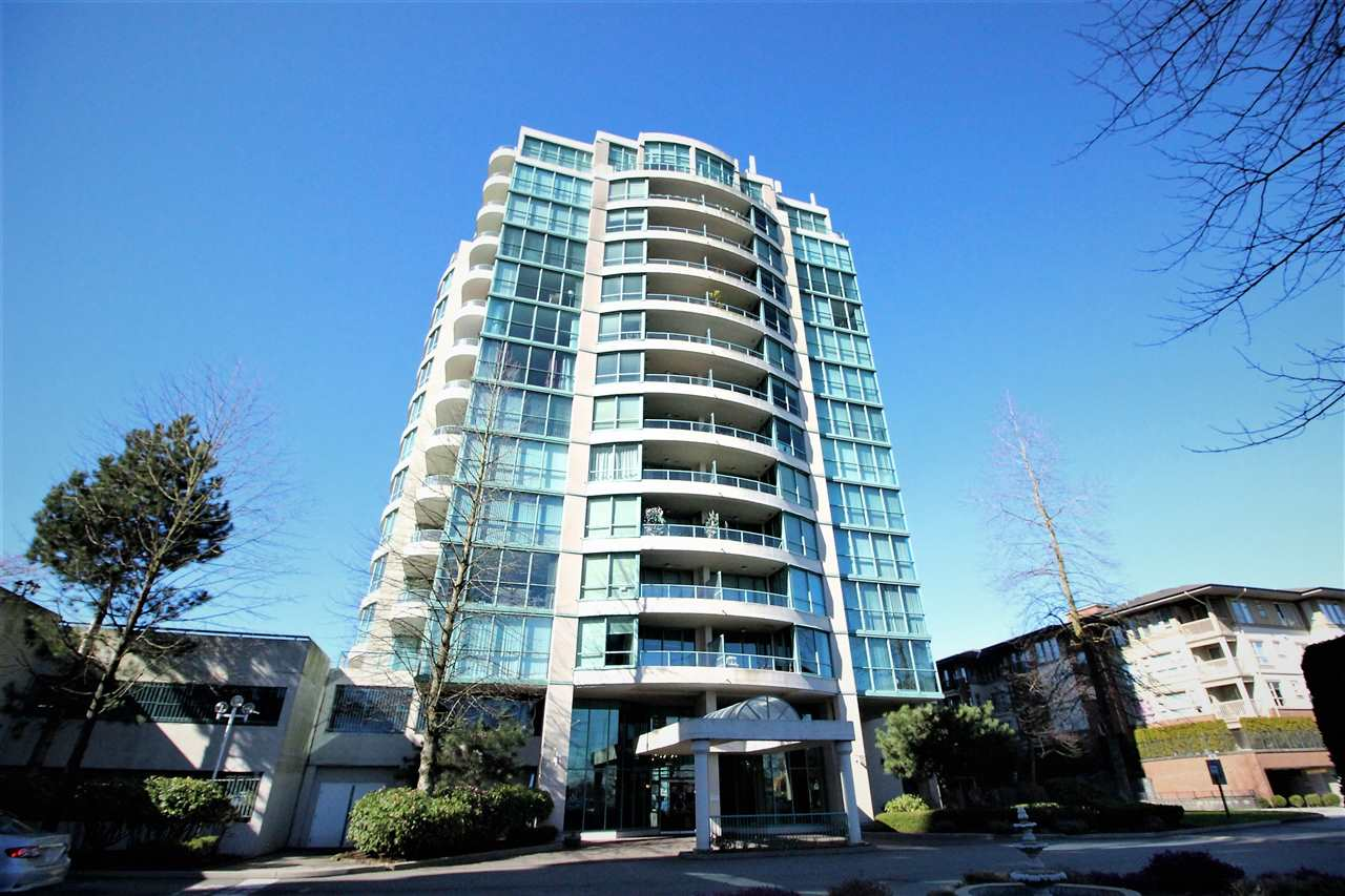 """Newly renovated, spacious 2 bedroom concrete hi-rise """"CENTRE POINT"""" can be your new home! Centrally located with unobstructed panoramic view of the northshore mountain from every room. 1,000 sq. ft. of modern, open concept living with granite countertops and stainless steel appliances. Well managed strata with pool, gym, sauna and more. 1 parking, 1 locker, lots of visitor parking, Minutes walking distance to Lansdowne, Richmond Centre, skytrain, Kwantlen University, Walmart etc. Pleasure to show! Open house Saturday and Sunday 24/25th 2-4 pm."""
