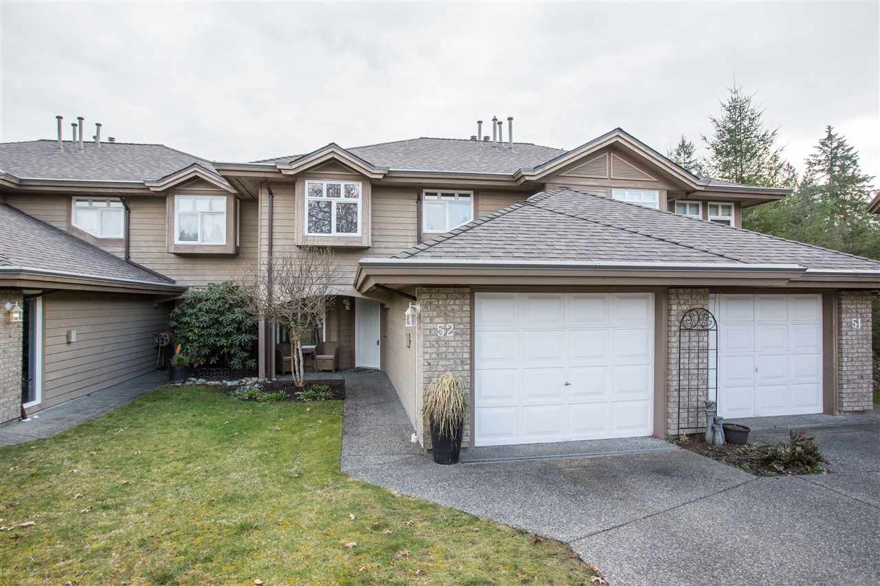Beautiful & quiet 2 storey w/ bsmt unit in most desirable Maple Ridge! This 3 bed 4 bath unit boasts a great open main floor plan featuring wood flooring as well as floor to ceiling slate fireplace! Updated authentic kitchen opens to the dining room & living room, great for entertaining. Covered balcony off the living room for all year round bbqing! Upstairs features 3 large bedrooms with updated bathrooms! The basement rec room is the perfect getaway with high end hardwood flooring. Basement also features a den which is perfect for office space! Greenspace view, dead end location & your own yard! Large single garage with storage space and large driveway for lots of parking! Great location close to all school types, shopping, parks, WC Express & much more!