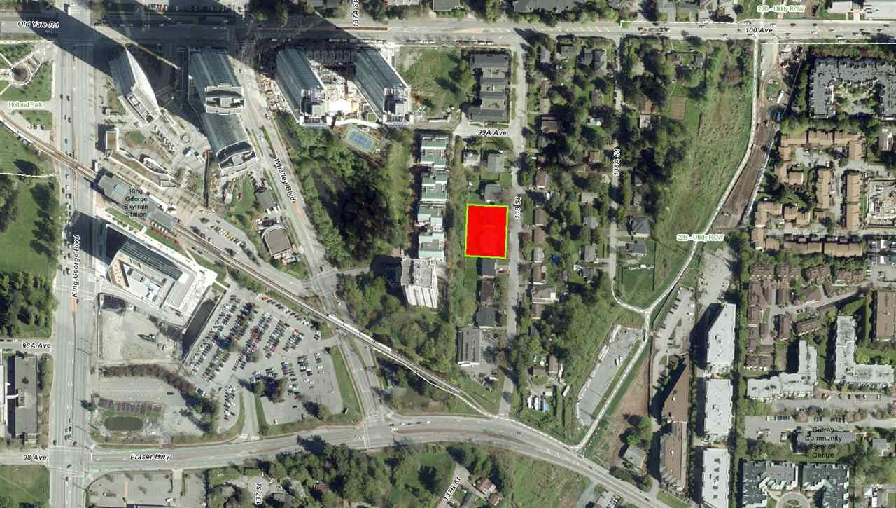 INVESTORS/DEVELOPERS ALERT: LOCATION LOCATION LOCATION!!! Over 20,000 Sq. Ft. in land assembly just became available in the heart of rapidly developing City of Surrey - BC's 2nd fastest growing city. This is a rare and hard to come by investment opportunity. Near by is King George Sky Station - $7 Billion LRT expansion project recently got approved to connect this station to Langley city center. More near by amenities: 3 Civic Plaza Tower, Surrey Central Shopping Mall, Guildford Shopping Center, Simon Fraser University, Surrey Memorial Hospital, Holland Park, and much more.  Don't miss out on this opportunity. Call Now!