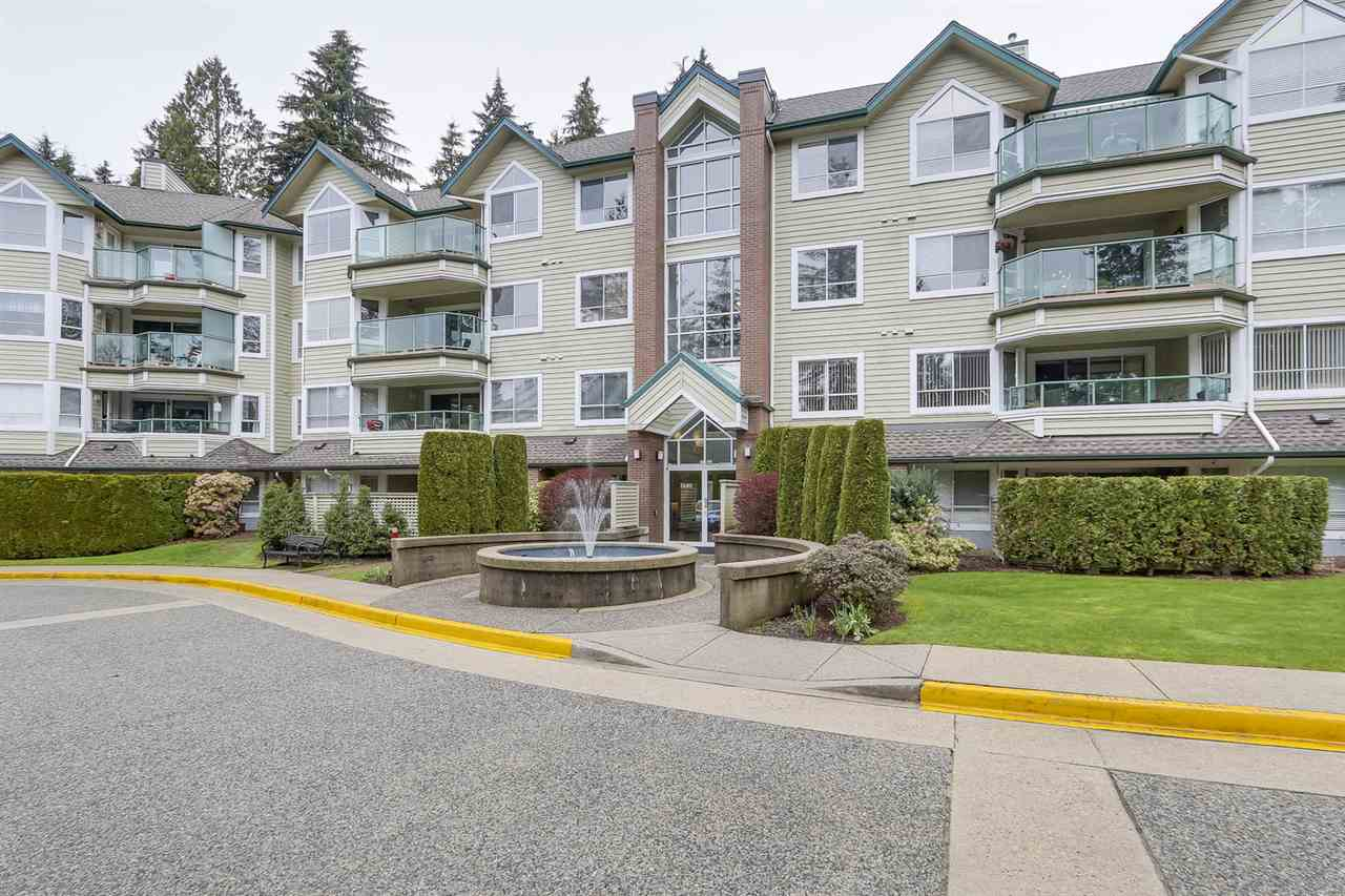 Love to garden & enjoy the outdoors?  Put this one on your list of MUST Sees!  You?ll appreciate this impressive 2 Bed + Den/Flex garden level corner suite which boasts over 1450 sq ft of ONE Level Living.  It feels like a townhome w/an extensive W facing patio perfect for planter box gardening & privacy.  You?ll be impressed w/ the principle rooms which easily accommodate 12 or more at the dinner table & your full-sized furniture.  Plus the added bonus of two very generously sized bedrooms nicely separated & a laundry room with side/side W/D perfect for adding cabinets or shelving.  PARKGATE MANOR is an elegant residence w/ impeccable grounds, indoor swimming pool, sauna, exercise centre, billiard room and a Multipurpose room complete w/ kitchen, fireplace, living room and all the cutlery and crockery needed for large parties. You?ll have peace of mind knowing there is a live-in caretaker, healthy contingency fund and a strata that is well managed.  Nearby is PARKGATE Shopping Mall, Rec. Centre and Library.